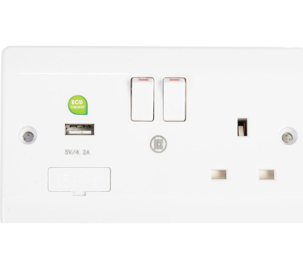 BCE USBDWB2 Single Power Socket with USB