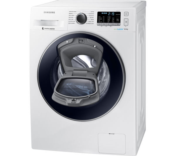buy samsung addwash ww90k5410uw washing machine white free delivery currys. Black Bedroom Furniture Sets. Home Design Ideas