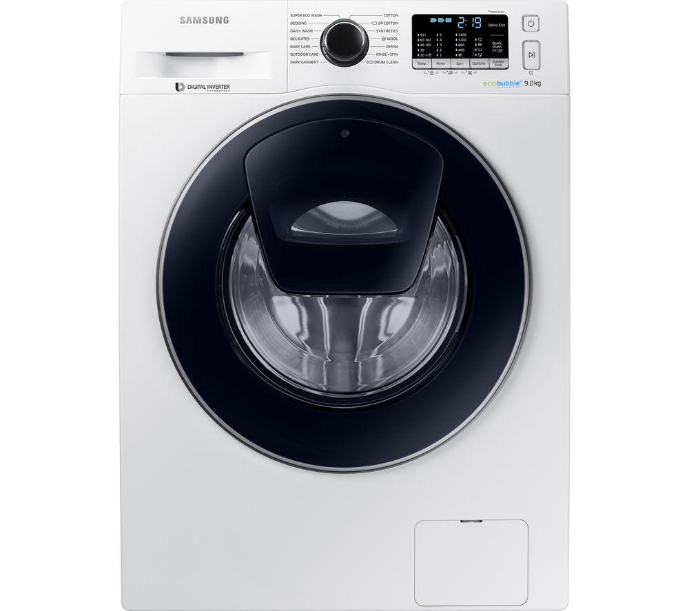 Image of Samsung AddWash WW90K5410UW Washing Machine - White, White