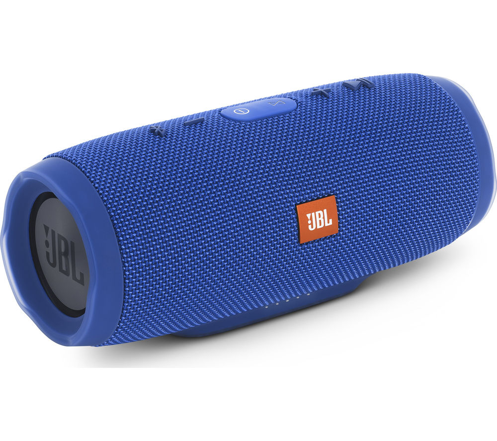 Click to view more of JBL  Charge 3 Portable Wireless Speaker - Blue, Blue
