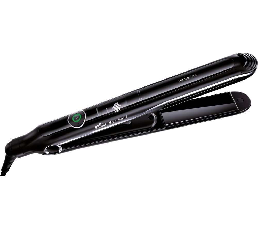 BRAUN  Satin Hair 7 SensoCare Hair Straightener  Black Braun