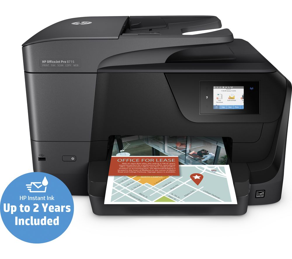HP OfficeJet Pro 8715 All-in-One Wireless Inkjet Printer with Fax