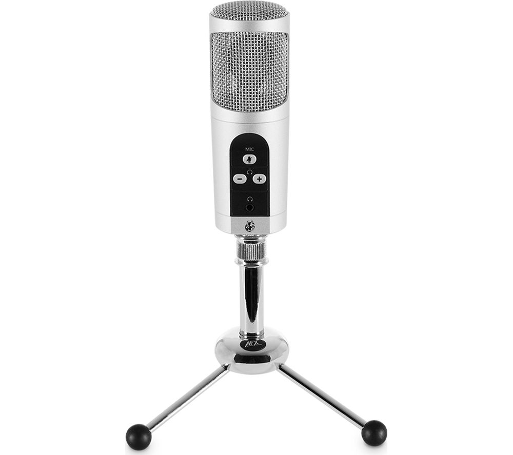 Image of AFX Firestar MIC01 Professional USB Microphone - Silver, Silver