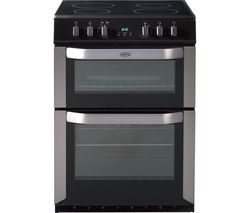 BELLING FSE60DOP 60 cm Electric Ceramic Cooker - Stainless Steel