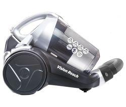 HOOVER Vision Reach Cylinder Bagless Vacuum Cleaner - Titanium