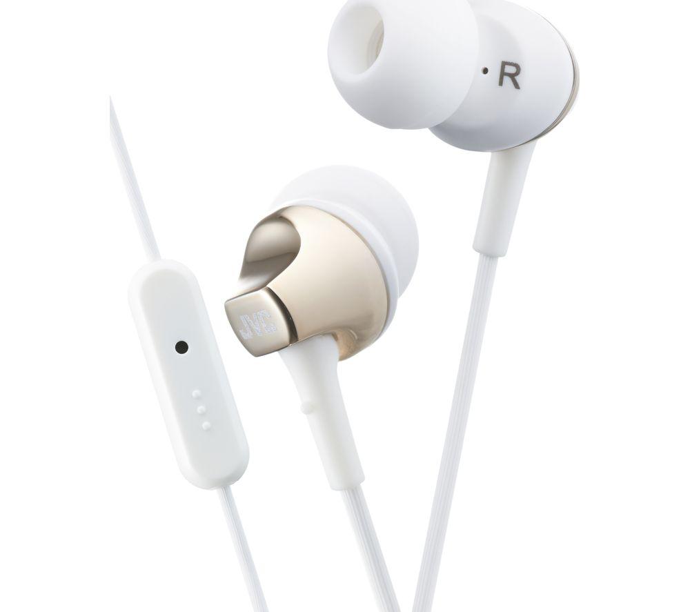 JVC HA-FR325-N-E Headphones - White & Gold