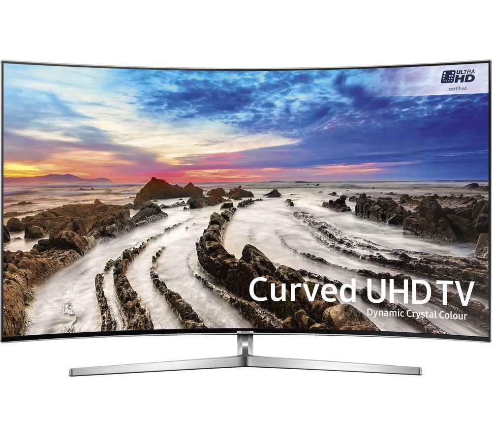 "SAMSUNG UE65MU9000 65"" 4K Ultra HD HDR Curved LED TV + S1HDM315 HDMI Cable with Ethernet - 1 m"