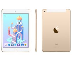 APPLE iPad mini 4 Cellular - 128 GB, Gold