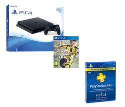 PLAYSTATION 4 Slim, FIFA 17 & PlayStation Plus 3 Month Subscription Bundle