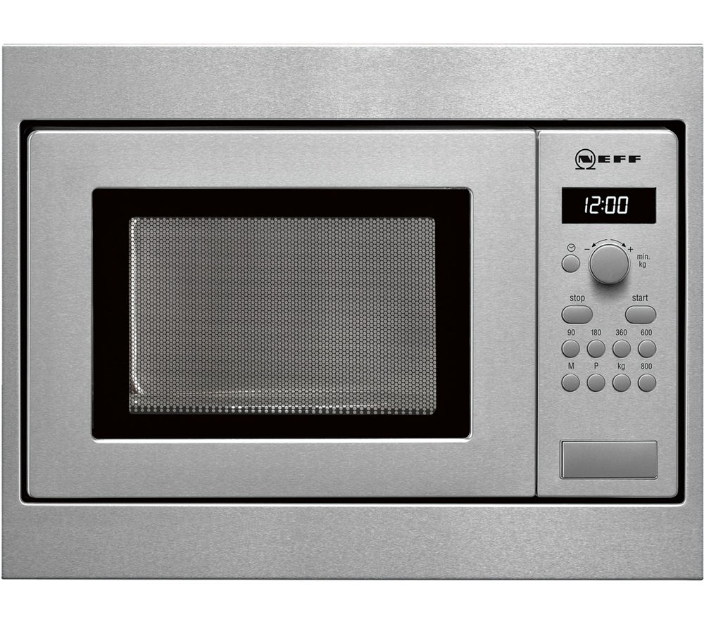 NEFF H53W50N3GB Built-in Solo Microwave - Stainless Steel