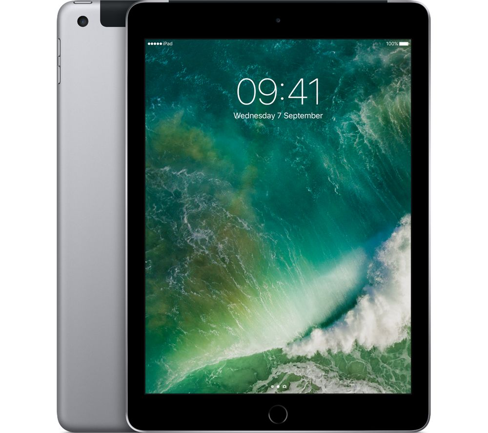 "APPLE  9.7"" iPad Pro Cellular - 32 GB, Space Grey +  Pencil - White +  iPad Pro 9.7"" Screen Protector +  iPad Pro 9.7"" Smart Cover - Charcoal Grey"