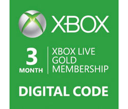 MICROSOFT Xbox LIVE Gold Membership 3 Month Subscription
