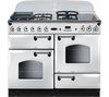 RANGEMASTER Classic 110 Dual Fuel Range Cooker - All White & Chrome