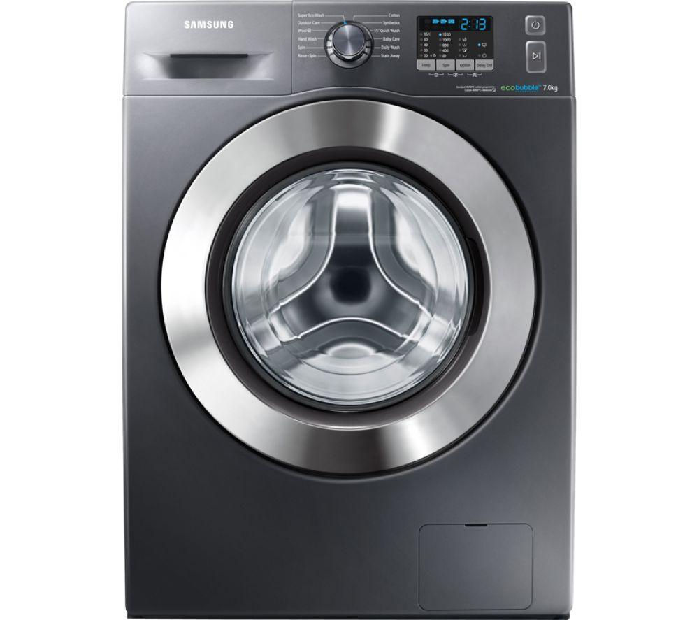 SAMSUNG ecobubble WF70F5E2W2X Washing Machine - Graphite