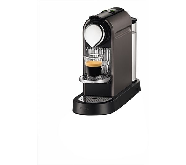 buy krups nespresso citiz coffee machine titanium free delivery currys. Black Bedroom Furniture Sets. Home Design Ideas