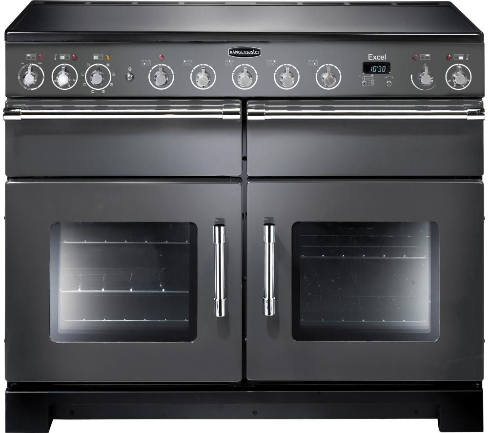 RANGEMASTER Excel 110 Electric Induction Range Cooker - Slate & Chrome