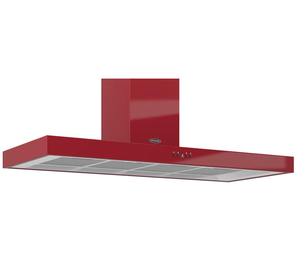 BRITANNIA Arioso TPK7088A12R Chimney Cooker Hood - Gloss Red