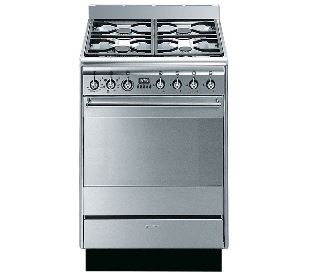 Smeg SUK61MX8 Dual Fuel Cooker - Stainless Steel, Stainless Steel