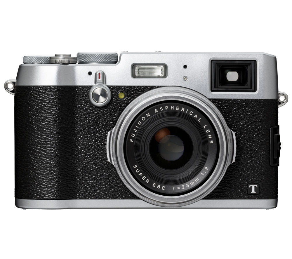 FUJIFILM  X100T High Performance Compact Camera - Silver +  Santiago 30 II Camera Case - Black