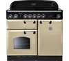 RANGEMASTER Classic 100 Electric Induction Range Cooker - Cream & Chrome