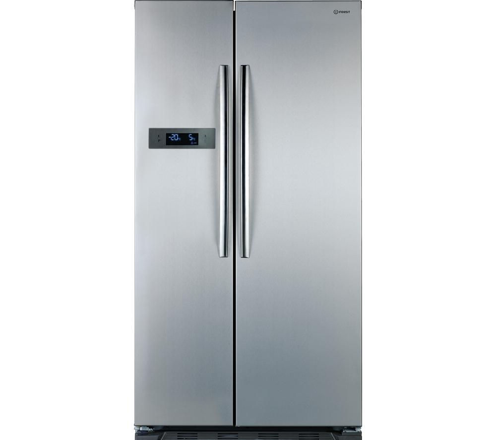 buy indesit sbsaa530sd american style fridge freezer silver free delivery currys. Black Bedroom Furniture Sets. Home Design Ideas