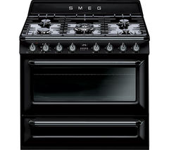 SMEG Victoria 90 cm Dual Fuel Range Cooker - Black