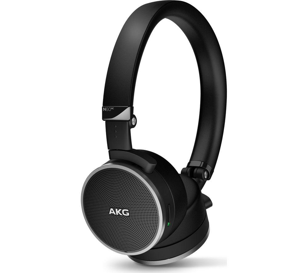 Image of AKG N60NC Noise-Cancelling Headphones - Black, Black