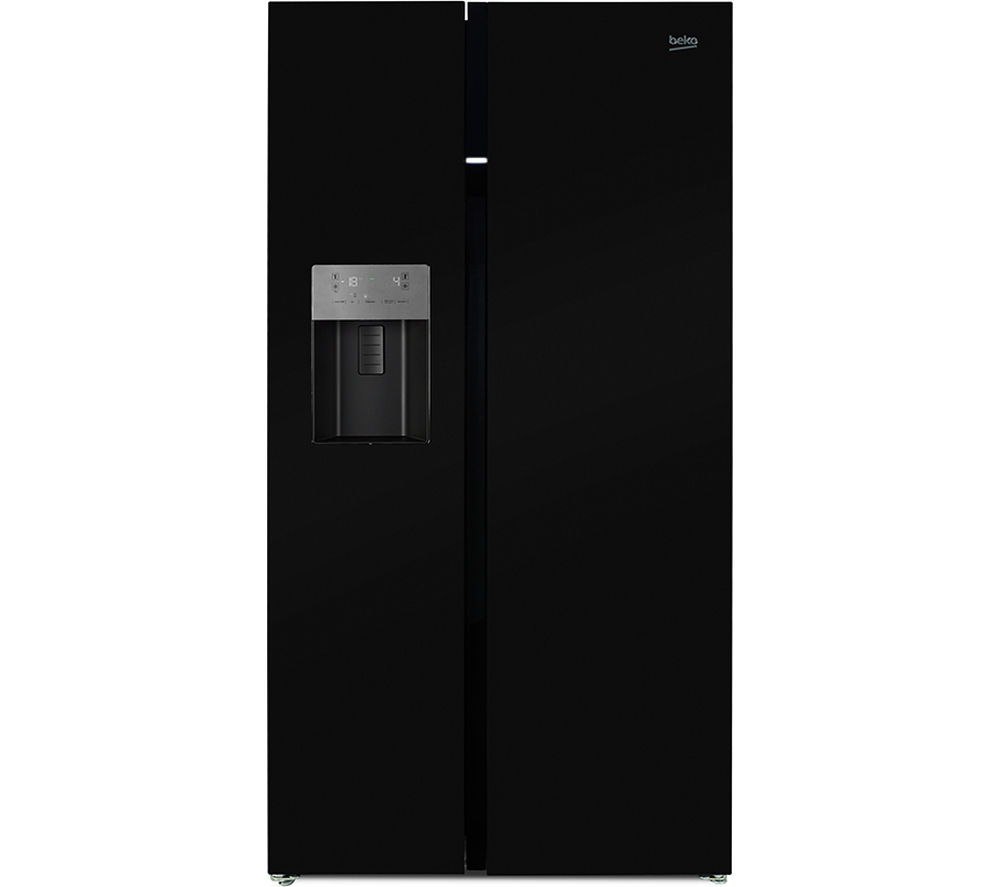 buy beko asgp342b american style fridge freezer black. Black Bedroom Furniture Sets. Home Design Ideas