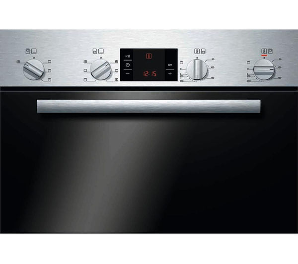 buy bosch serie 6 classixx hbm43b150b electric double oven stainless steel free delivery. Black Bedroom Furniture Sets. Home Design Ideas