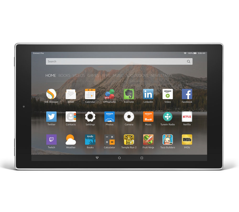 "AMAZON Fire HD 10.1"" Tablet - 16 GB, Silver"