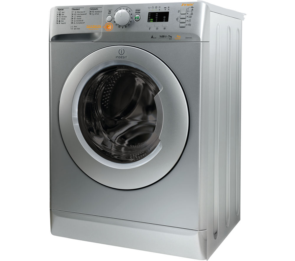 buy indesit innex xwde751480xs washer dryer silver. Black Bedroom Furniture Sets. Home Design Ideas
