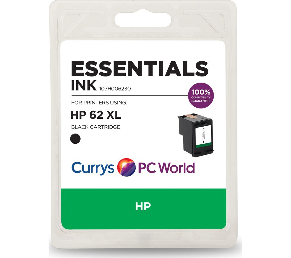 essentials 62 xl black hp ink cartridge deals pc world. Black Bedroom Furniture Sets. Home Design Ideas