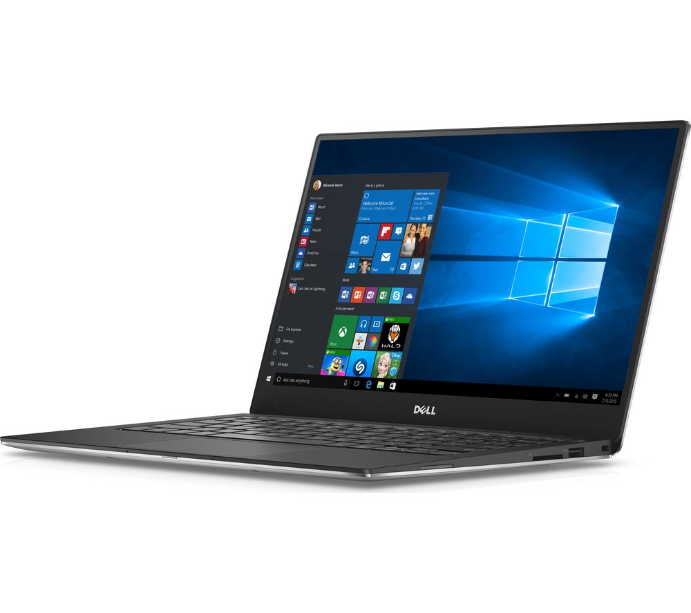 DELL XPS 13 Touchscreen Laptop - Silver + Office 365 Personal + LiveSafe Unlimited 2017 - 1 year