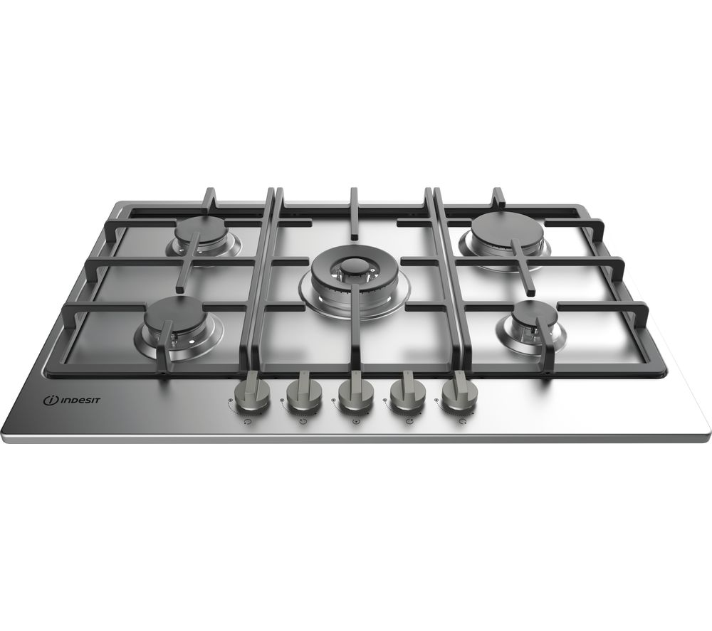 Indesit INDESIT  THP 751 WIXI Gas Hob  Stainless Steel Stainless Steel