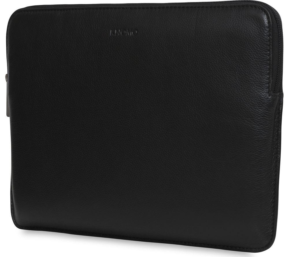 KNOMO 45101BLK 13 Leather Laptop Sleeve  Black Black