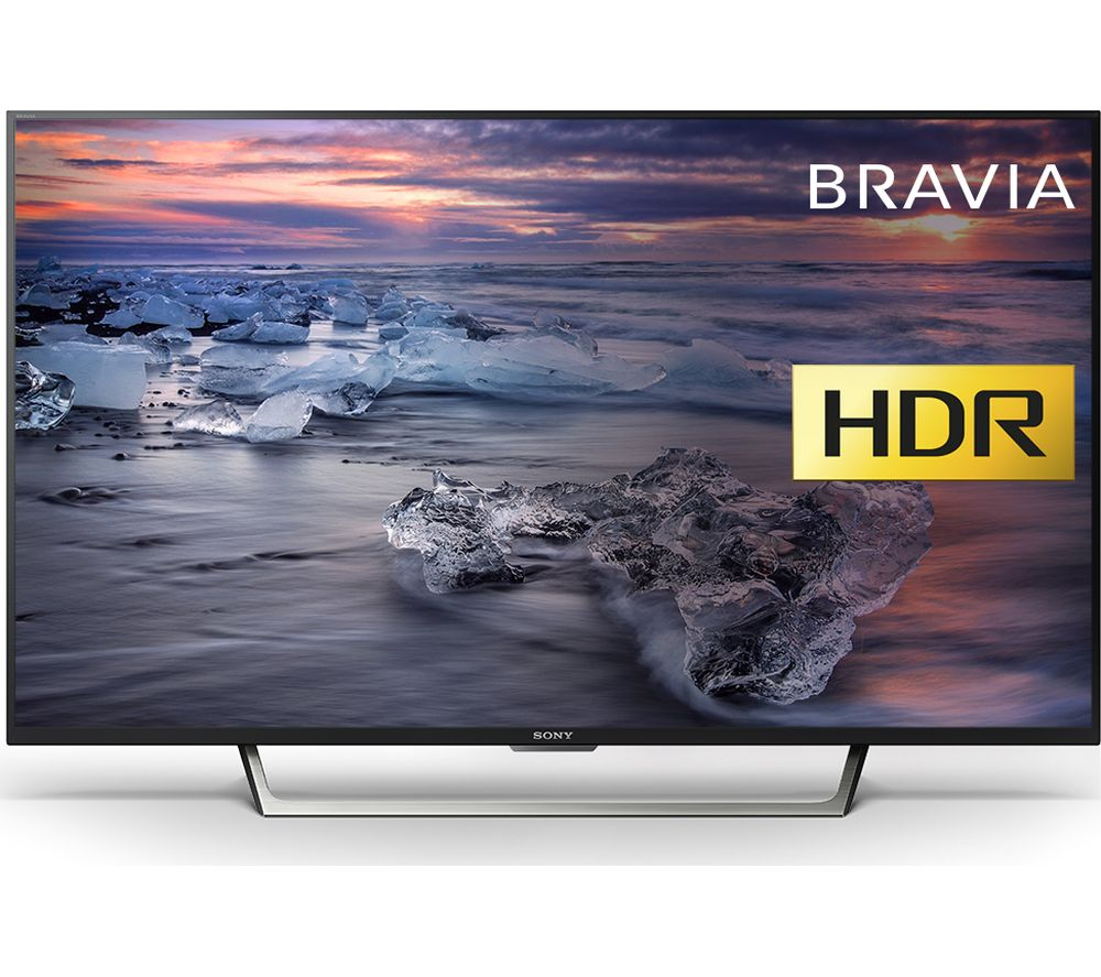 "SONY BRAVIA KDL49WE753 49"" Smart HDR LED TV + S1HDM315 HDMI Cable with Ethernet - 1 m"