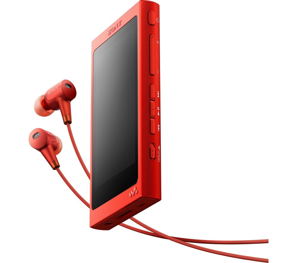 SONY Walkman NWA35HR Touchscreen MP3 Player & NoiseCancelling Headphones Bundle  Red Red