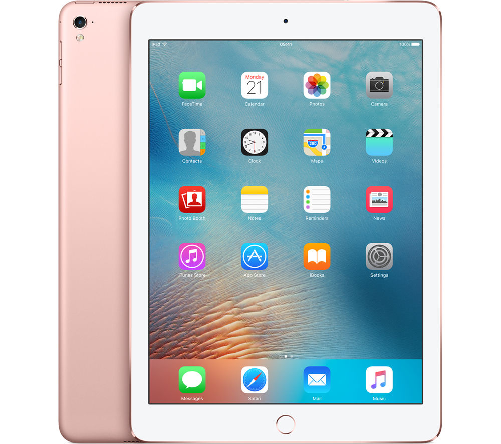 "Image of Apple 9.7"" iPad Pro Cellular - 128 GB, Rose Gold, Gold"