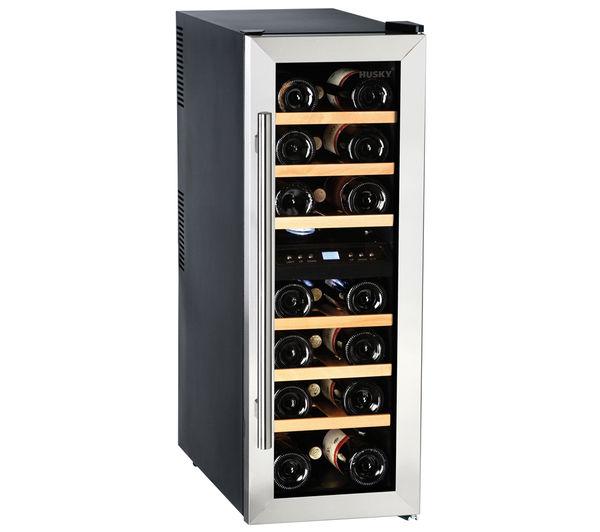 Buy Husky Hus Cn215 Wine Cooler Black Silver Free