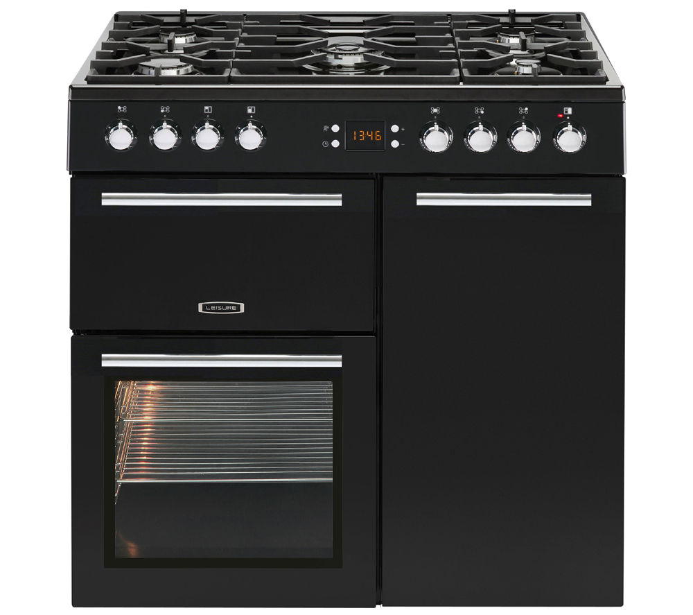 buy leisure al90f230k dual fuel range cooker black. Black Bedroom Furniture Sets. Home Design Ideas