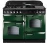 RANGEMASTER Classic 110 Dual Fuel Range Cooker - Green & Chrome