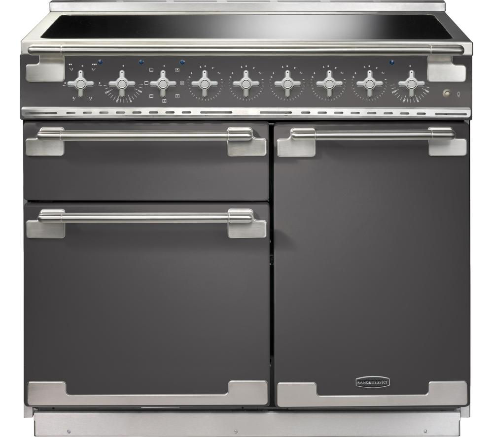 RANGEMASTER Elise 100 Electric Induction Range Cooker - Slate & Chrome