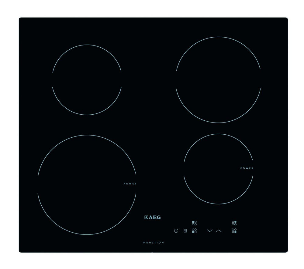 buy aeg hk604200ib electric induction hob black free delivery currys. Black Bedroom Furniture Sets. Home Design Ideas