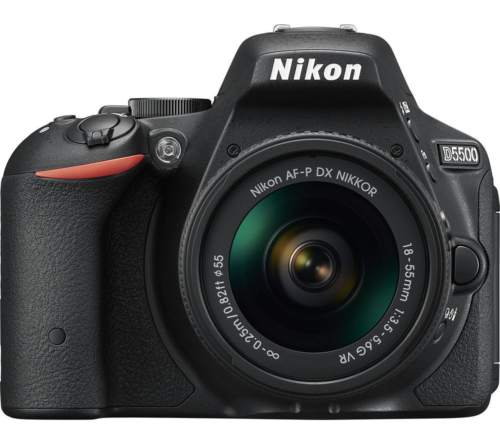 D5500 DSLR Camera with AF-S DX NIKKOR 18-55 mm f/3.5-5.6G VR - Black +  70-300 mm f/4-5.6 DG Telephoto Zoom Lens with Macro - for Nikon