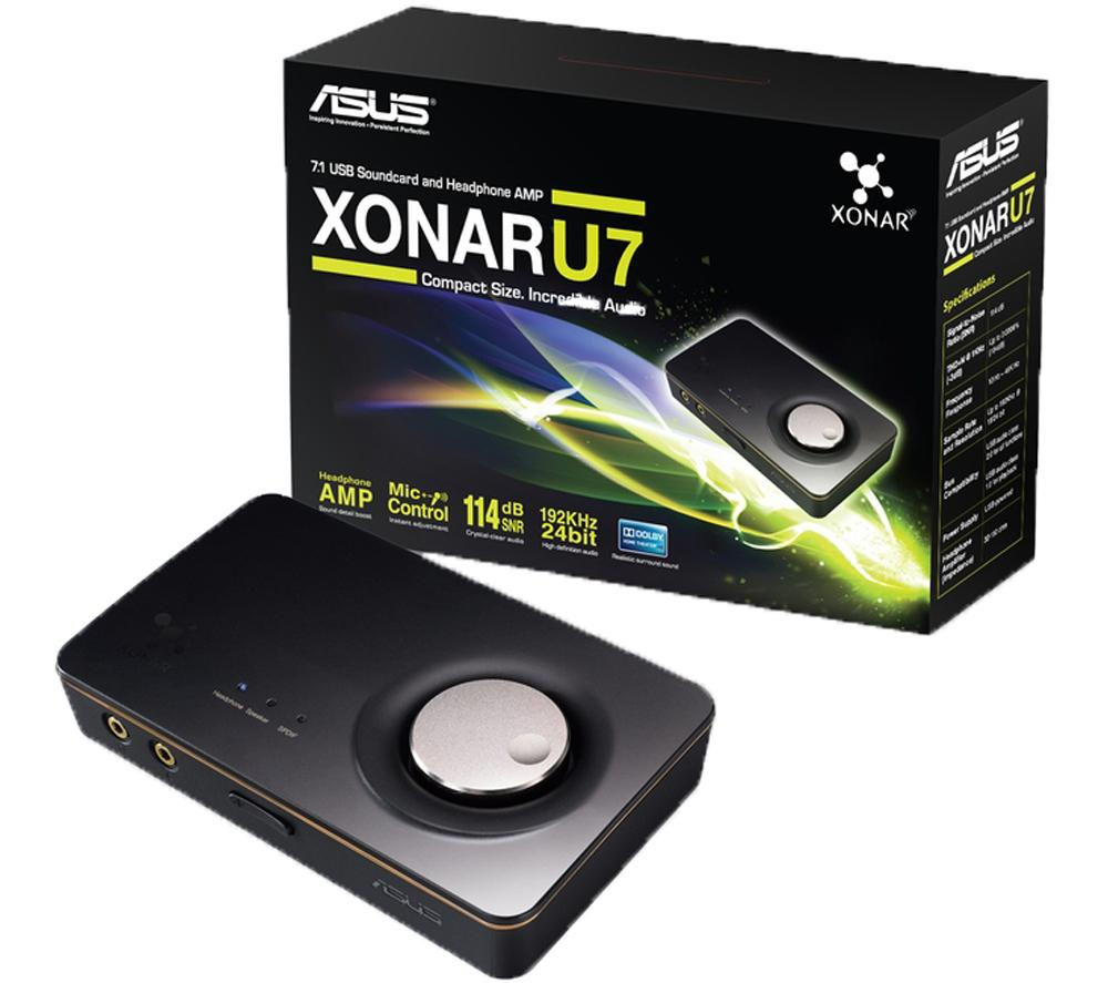 ASUS Xonar U7 7.1 Channel USB 2.0 Sound Card
