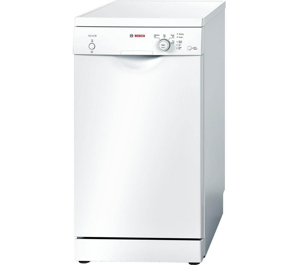 Bosch SPS40E22GB Slimline Dishwasher  White White