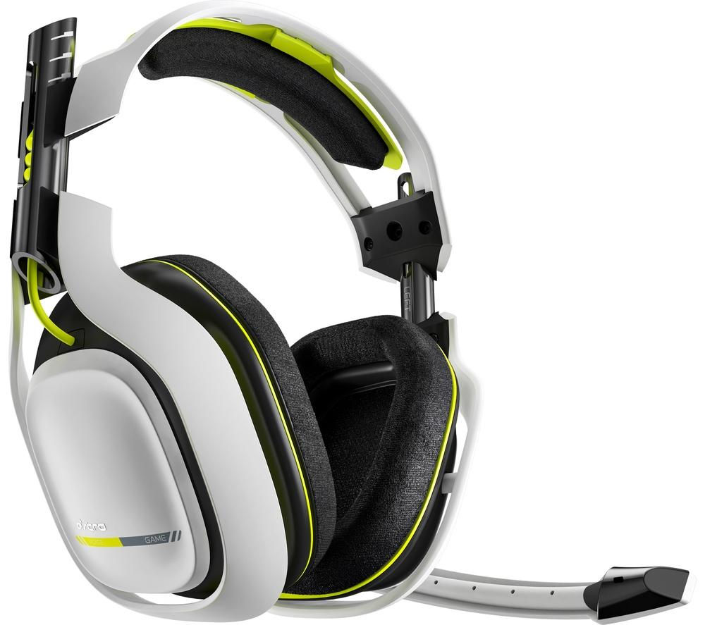 ASTRO GAMING A50 Wireless 7.1 Gaming Headset - White & Green