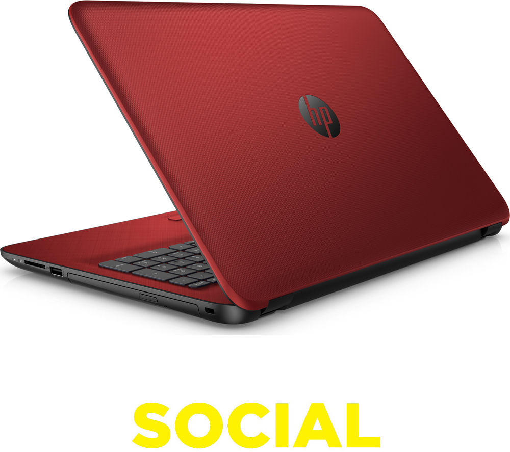 "Image of HP 15-af154sa 15.6"" Laptop - Red, Red"