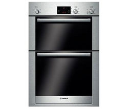 BOSCH Exxcel HBM13B550B Electric Double Oven - Brushed Steel
