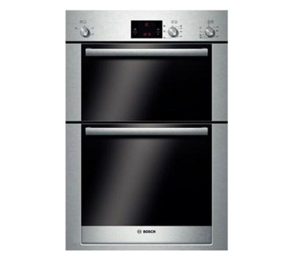 BOSCH  Exxcel HBM13B550B Electric Double Oven  Brushed Steel Brushed Steel